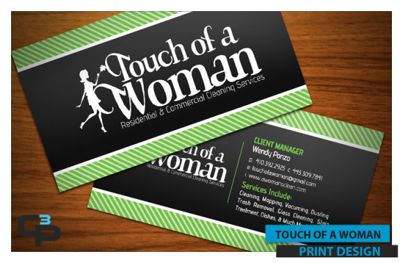 Touch of a Woman Business Cards