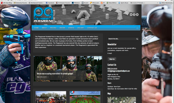 Playground Paintball Park Website